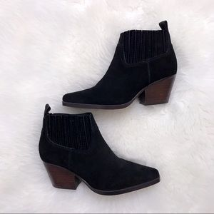 Franco Sarto-Black Suede Booties-New w/out box-5m